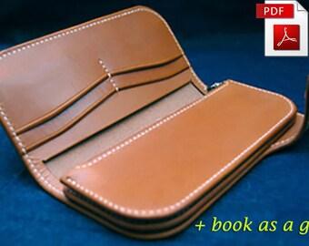 Leather pattern Wallet pattern Purse Pattern Leather template Leather PDF Leather wallet pattern DIY Leathercraft pattern
