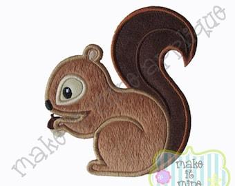 Applique Woodland Animal Squirrel Machine Applique Design