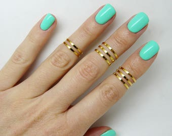 8 above the knuckle rings, Gold knuckle rings, Stacking rings, Band knuckle ring, Silver knuckle ring, Fashion mid ring, Dainty ring