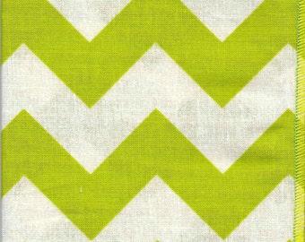 Cloth Napkins: Lime & Cream Chevron