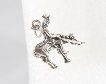 Vintage Sterling Silver Horse Charm End of the Trail Tired Horse Fob Native American Souvenir