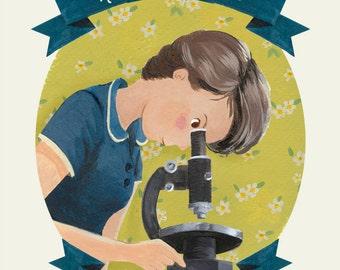 Rosalind Franklin Print  - Female Role Models Series - Women in Science