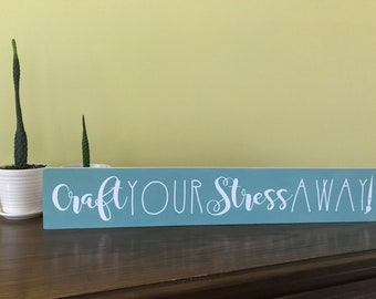 Craft Your Stress Away!  Seaside Vinyl Board