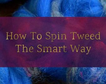 Tweed - Combed Top and Roving Spinning Fiber Tutorial - Handspun Yarn Tutorial