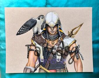Bayek (Assassin's Creed Origins) Original artwork