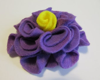 Add a Felt Flower with yellow center to any Sleep Mask or Neck Wrap- Light Purple