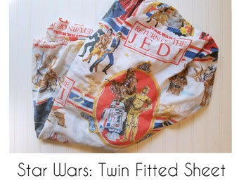 Vintage Star Wars Twin Fitted Sheet