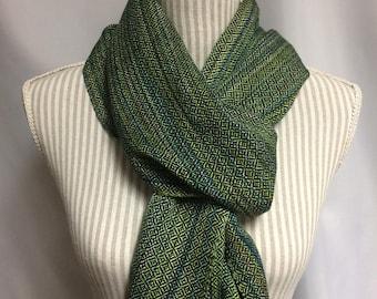 jewel beetle: handwoven tencel scarf