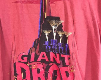 Vintage Six Flags Giant Drop The Ride Shirt XL