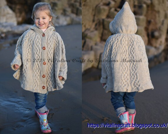 Knitting Pattern Fairyland Poncho Toddler and Child sizes