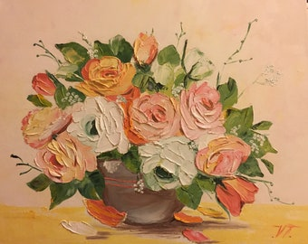 Roses Painting/Bunch of Roses/ bouqet of flowers/ Oil Painting/ Розы/ Картина маслом/ холст на подрамнике/
