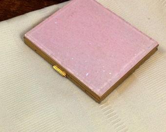 Brilliant Pink Lucite Powder Compact