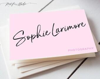 Modern Pink Business Card-Custom Business Card