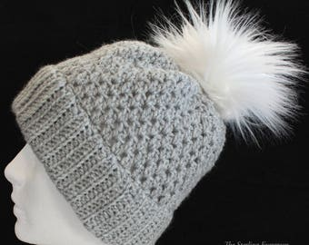 Faux Fur Pom Winter Hat