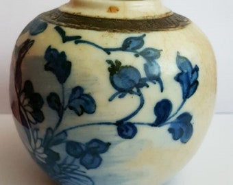 Late Guangxu reign blue & white ginger jar