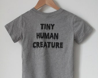 TINY HUMAN creature organic cotton kids tee