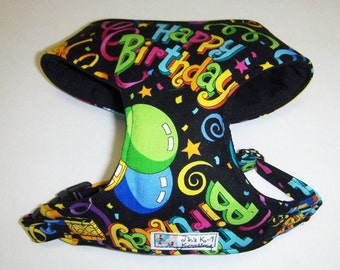 Comfort Soft Harness for Small Dog, Birthday. - Made to Order -