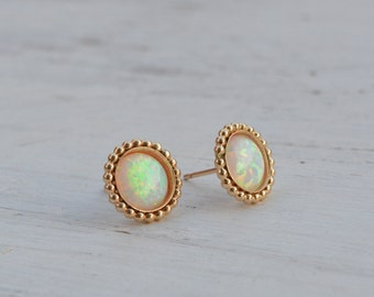 opal stud earrings,opal earrings,opal earrings gold,bridesmaids gift,white opal earrings,wedding earrings,opal jewelry,Gift for her