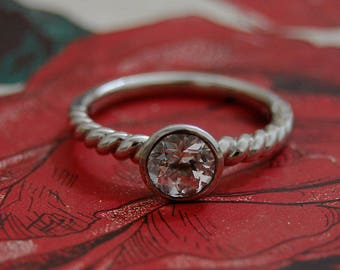 Kira - Morganite Engagement Ring, morganite gemstone ring, morganite wedding band, morganite brida jewelry, diamond alternative ring, gift