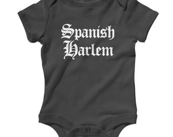 Baby Spanish Harlem Gothic NYC Romper - Infant One Piece - NB 6m 12m 18m 24m - Spanish Harlem Baby - 3 Colors