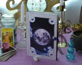 Full Moon Grimoire / Lunar Phase Spellbook / Astrology Journal / Pagan Goddess Diary / Witchcraft Note Book /Moon Witch / Wiccan BOS