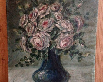 SALE 20% OFF Antique Still Life Oil Painting Signed M Knoth 1924
