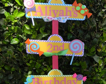 Sweet Shoppe or Candyland Party Sign & Candyland | Etsy