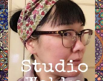 Liberty floral print twisted turban headband with elastic