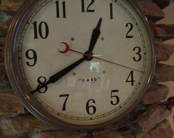 Circa 1940s large metal wall clock