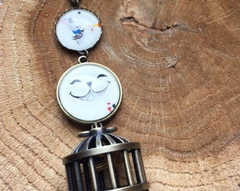 "Pocket Watch cage ""The story of Alice in the Wonderland"""