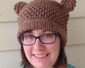 Crochet Cat eared hat