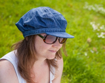 Pattern: Sewn Baker Boy Hat with peak
