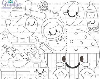 75%OFF - Baby Stamps, Digi Stamp, Baby Boy Stamps, Digital Stamp, Baby Coloring Page, COMMERCIAL USE, Baby Digistamp, Kawaii Stamps, Clipart