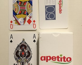 Commercial company, Apetito plactic coated  finish playing cards.