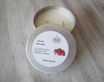 """Handcrafted scented """"Box aluminum"""" red berries"""