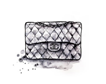Chanel Obsession: A4 Giclee Art Print of original water soluble graphite drawing