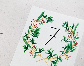 Custom Table Numbers - Unique Wedding Stationery