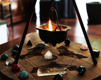Pyramid Tri-Pod Cauldron Stand Magical Set