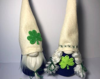St. Patrick's Midi Gnomes Pair