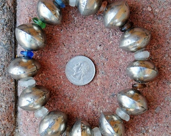 African Large Coin Silver Beads