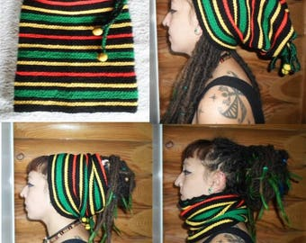 Hat for dreads 173 produced entirely by hand crochet!