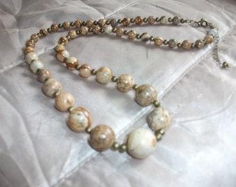 Bamboo Jasper graduated necklace