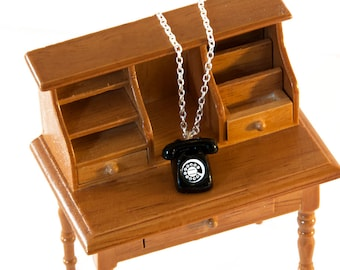 Telephone Necklace - Administrative Assistant Gifts - Miniature Jewellery