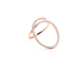 Circle Swirl Ring