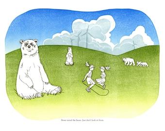 Never Mind The Bears 8x10 digital print