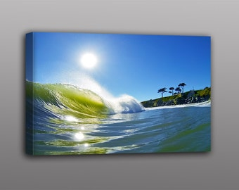 Canvas Print Ocean Wave Surfing Photograph Wall Art Home Decor