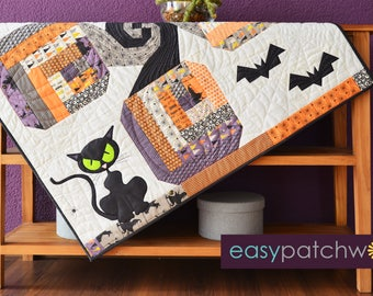 Bad Kitty in the Pumpkin Patch Original Pattern by easypatchwork