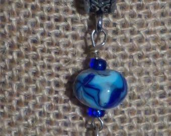 Blue Swirl Single Bead
