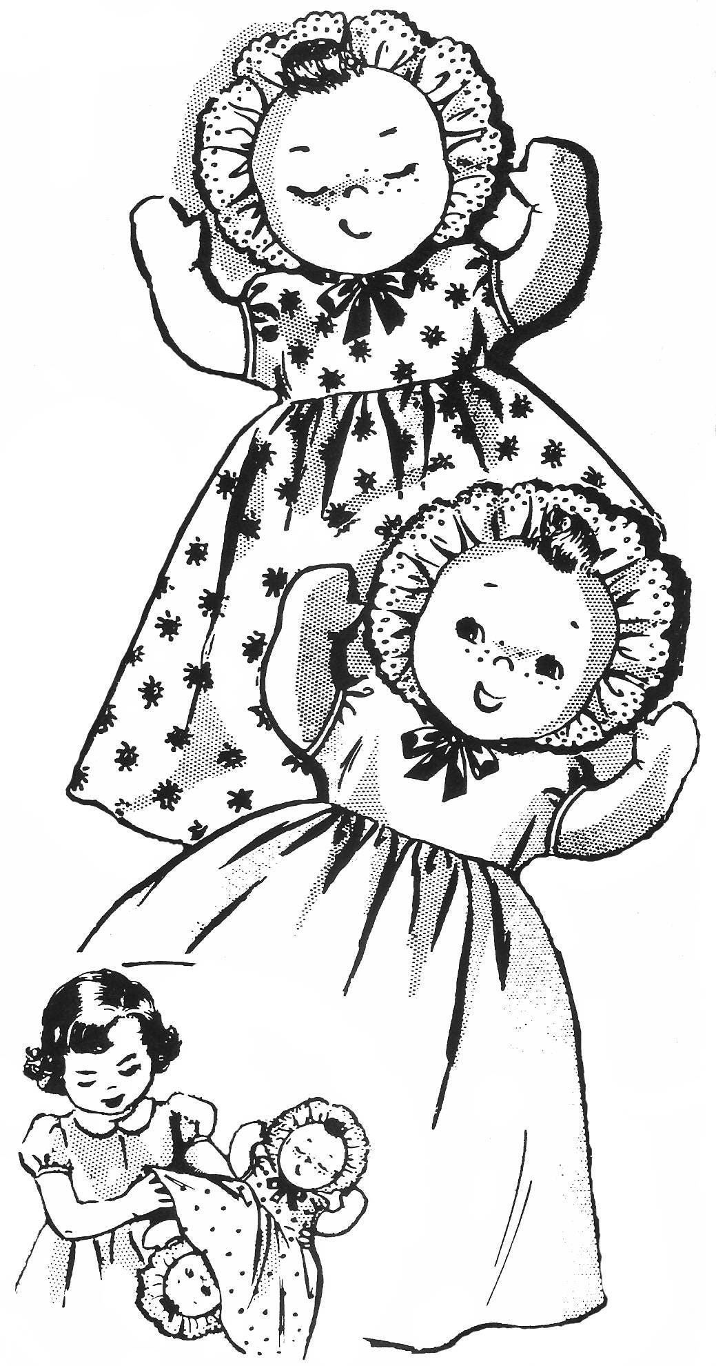 Cloth Doll Pattern Topsy Turvy Doll Doll Clothes Pattern