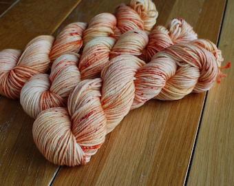 Tequila Sunrise, Hand Dyed Yarn, SW Worsted